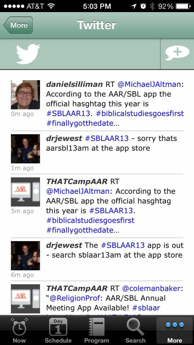 Twitter feed (looks like Jim was already advertising the app's release!)
