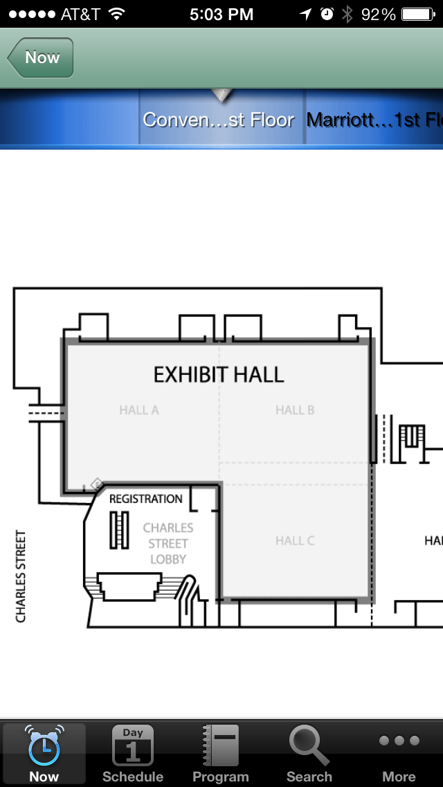 Maps of the convention center